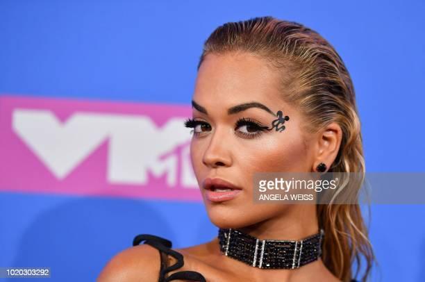 British singer Rita Ora attends the 2018 MTV Video Music Awards at Radio City Music Hall on August 20 2018 in New York City