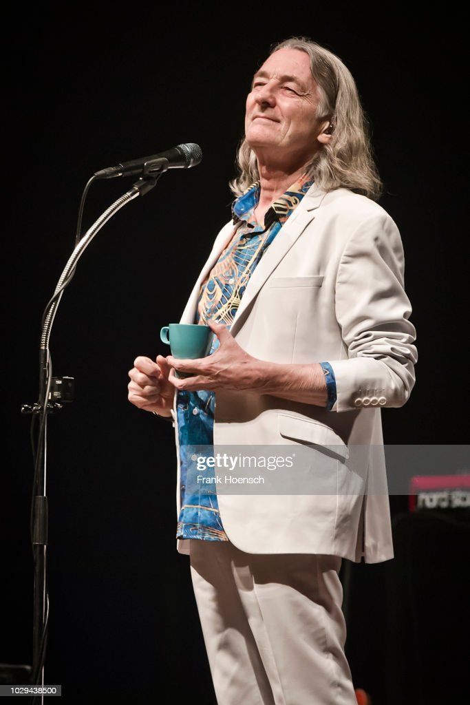 British singer Roger Hodgson performs live on stage during a