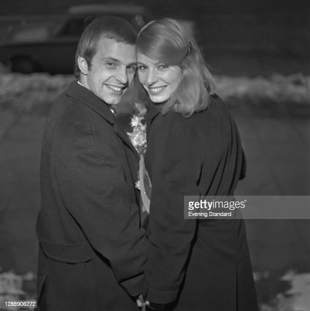 British singer Ross Hannaman marries record producer and composer Mark Wirtz of EMI, UK, 13th January 1968.