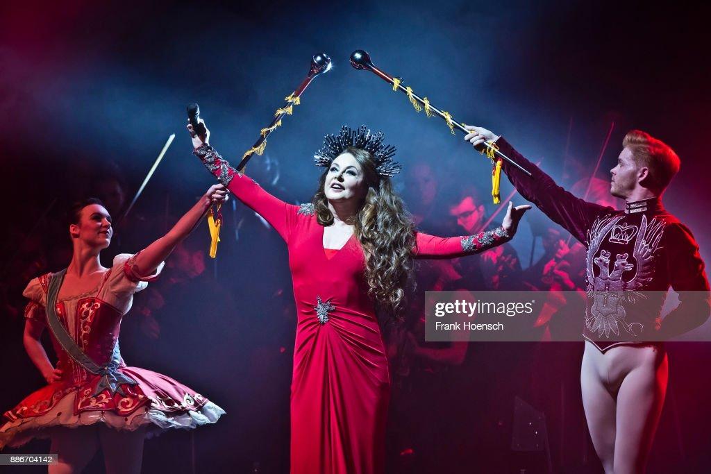 British singer Sarah Brightman performs live on stage during