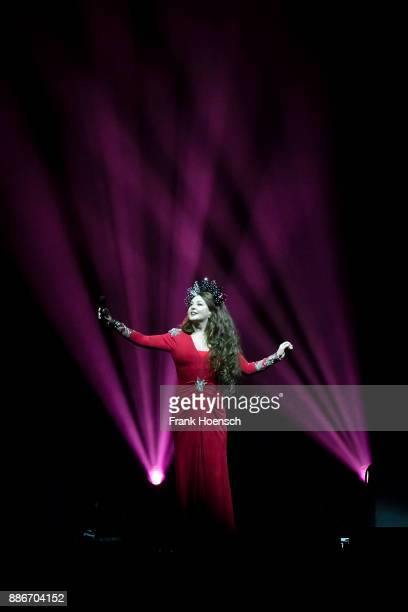 British singer Sarah Brightman performs live on stage during the Royal Christmas Gala at the Tempodrom on December 5 2017 in Berlin Germany