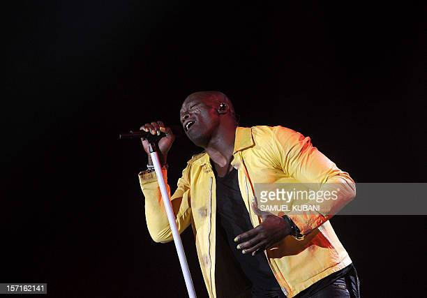 British singer Seal performs on stage during his Soul 2 tour at the Incheba exhibition center in Bratislava on November 29 2012 AFP PHOTO/SAMUEL...