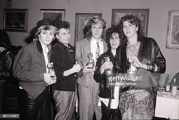 British singer Simon Le Bon British keyboardist Nick Rhodes British guitarist Andy Taylor British bassist John Taylor and British drummer Roger...