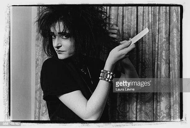 British singer Siouxsie Sioux at the Gramercy Park Hotel in New York