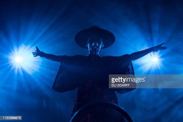 British singer Skye Edwards performs with her band Morcheeba on the Avalon stage on the third day of the Glastonbury Festival of Music and Performing...