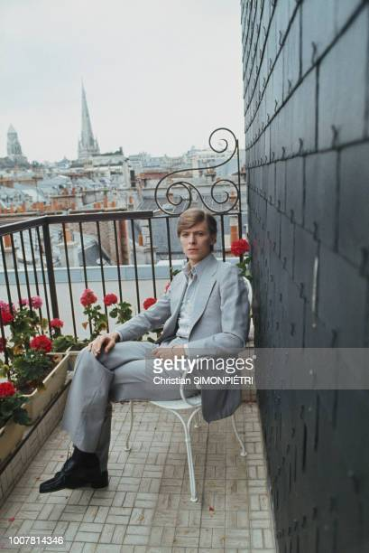 British singer, songwriter and actor David Bowie on Paris rooftops, Paris, 25th June 1977