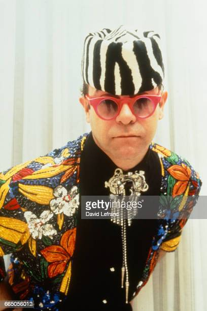 British singer songwriter and composer Elton John attends the 1989 Victoires de la Musique ceremony