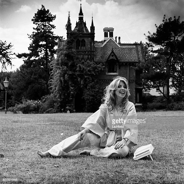 British singer songwriter and keyboard musician Lynsey de Paul photographed at her home in North London on 27th August 1976 Also featured in the book...
