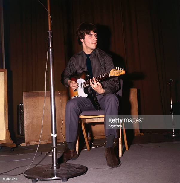 British singer songwriter and Kinks frontman Ray Davies at a soundcheck before a session for the BBC at the Playhouse Theatre London 7th September...
