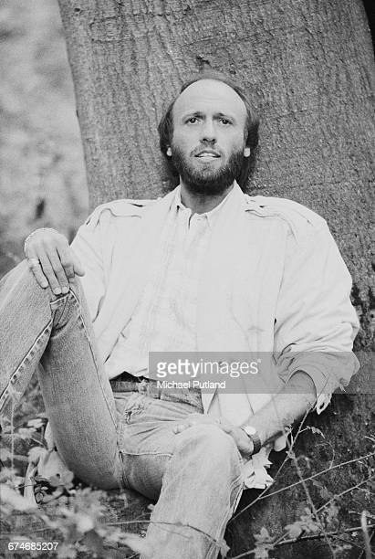 British singer songwriter and musician Maurice Gibb of the Bee Gees 1984