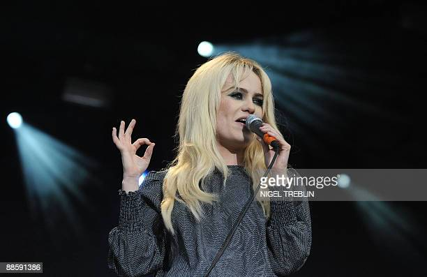 British singer songwriter Duffy performs at the 13th Hurricane Festival in Scheessel, northern Germany on June 19, 2009. 60 bands are planned to play...