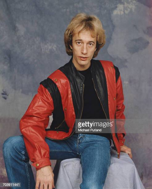 British singer songwriter musician and producer Robin Gibb of the Bee Gees 1984
