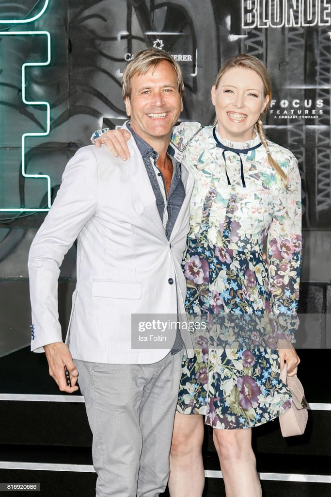 British singer Steve Norman and his wife Sabrina Winter attend the 'Atomic Blonde' World Premiere at Stage Theater on July 17, 2017 in Berlin, Germany.