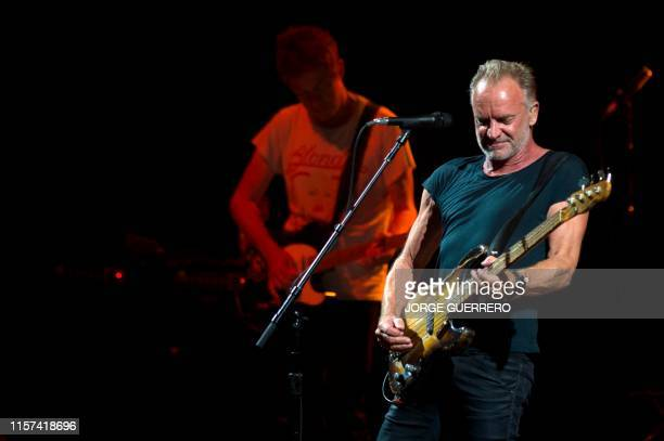 British singer Sting performs during a concert at the Starlite Music Festival in Marbella on July 23 2019