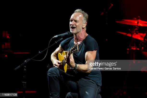 British singer Sting performs during a concert at the Starlite Music Festival on July 23 2019 in Marbella Spain