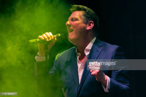 British singer Tony Hadley, former Spandau Ballet frontman, performed in concert in Cittadella Italy, for the review Cittadella Musica Estate, on...