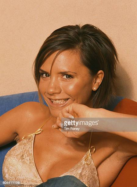 British singer Victoria Beckham nee Adams aka 'Posh Spice' formerly of pop girl group The Spice Girls circa 2000