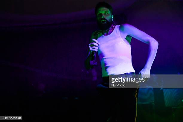 British singers and guitarist The SLP performs live at Earth Hackney in London on September 9 2019 The SLP is the solo project of Kasabians guitarist...
