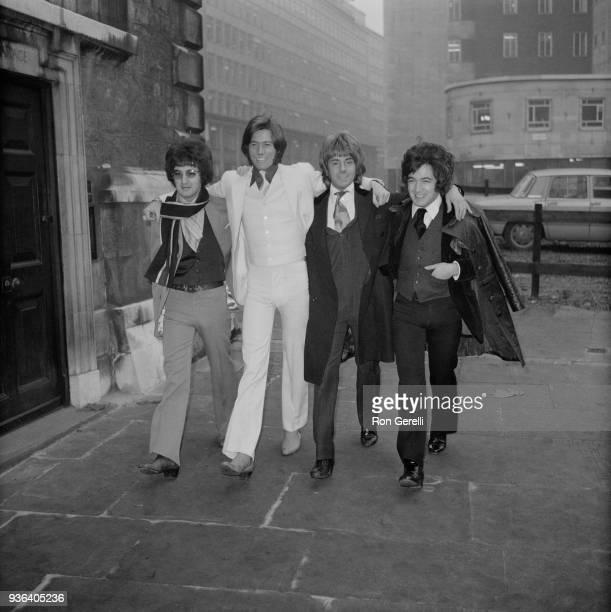 British singers Barry Ryan, Barry Gibb, David Garrick , and Paul Ryan , London, UK, 3rd December 1968.