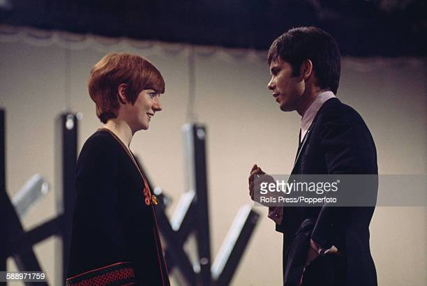 British singers Cilla Black and Cliff Richard pictured together on stage during recording of the Cilla Black Show in London in March 1968 Cliff would...