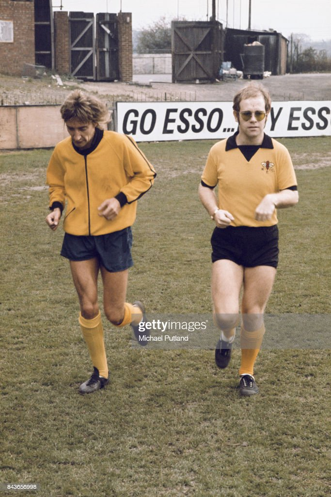 Elton John and Rod Stewart : News Photo