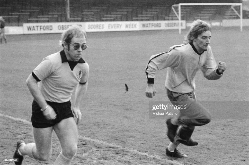 Rod And Elton Race : News Photo