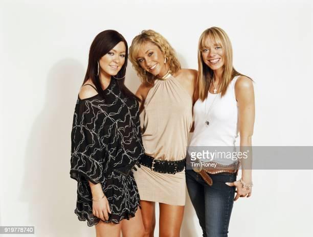 British singers Natasha Hamilton Jenny Frost and Liz McClarnon of pop girl group Atomic Kitten December 2003