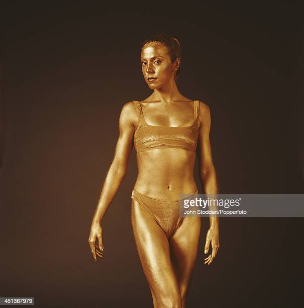 British singersongwriter and actress Melanie C posing wearing gold body paint circa 1996