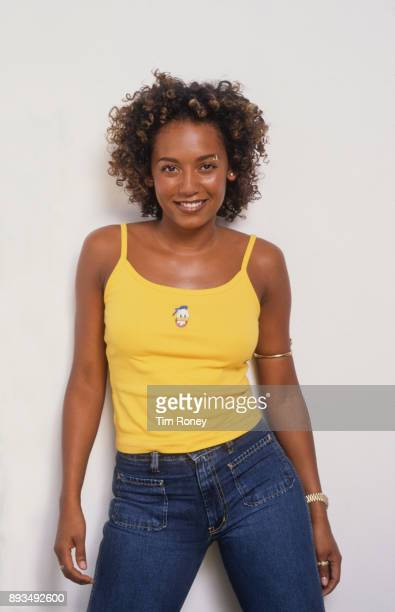 British singer-songwriter and member of the Spice Girls Mel B , circa 1998.