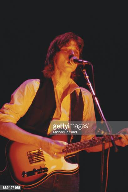 British singersongwriter and musician David Knopfler of the English rock band Dire Straits performing US March 1979
