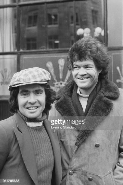 British singersongwriter and musician Davy Jones and American actor and musician Micky Dolenz of rock group The Monkees UK 23rd November 1977