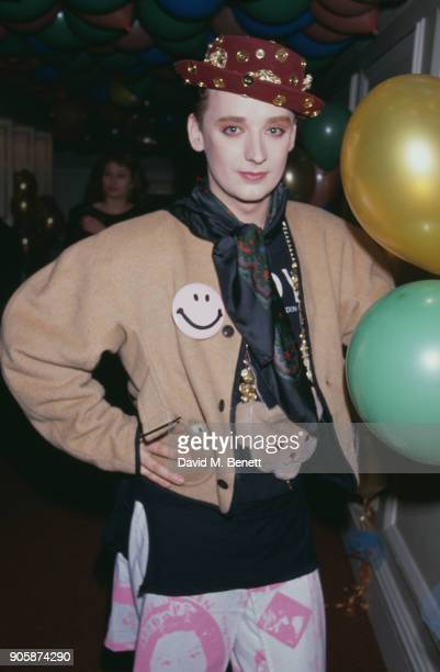 British singersongwriter Boy George at the 1989 Brit Awards Royal Albert Hall London UK 13th February 1989