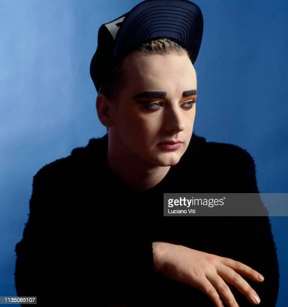 British singer-songwriter Boy George, London, 1987.