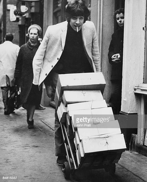 British singer-songwriter Cat Stevens shifting copies of his debut album 'Matthew & Son', which has reached number 2 in the NME and Melody Maker...