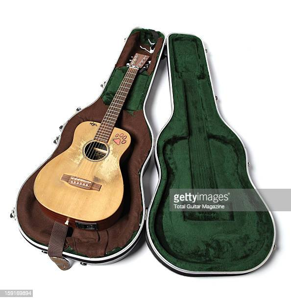 British singersongwriter Ed Sheeran's Martin acoustic guitar photographed during a portrait shoot for Total Guitar Magazine/Future via Getty Images...