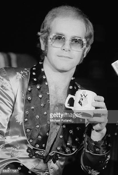 British singersongwriter Elton John during his fivenight run of Christmas shows at the Hammersmith Odeon London 23rd December 1974