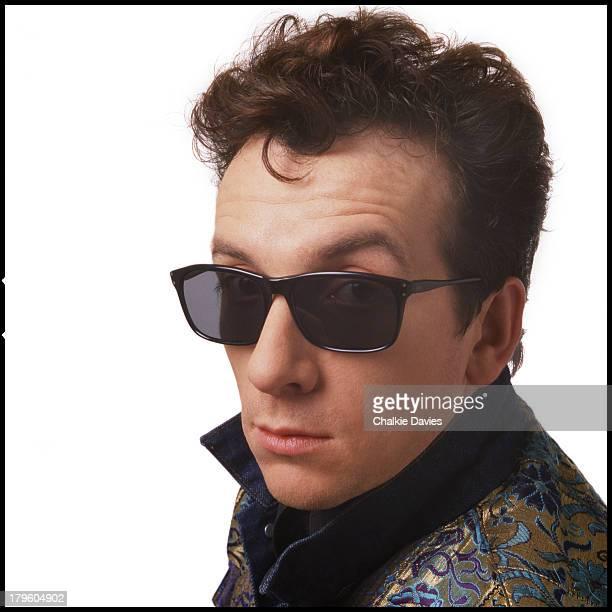 British singersongwriter Elvis Costello photographed in a London studio 1986