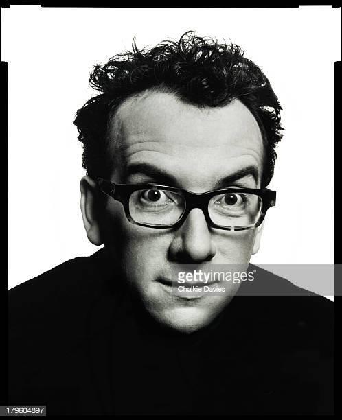 British singersongwriter Elvis Costello photographed in a studio in New York 2003