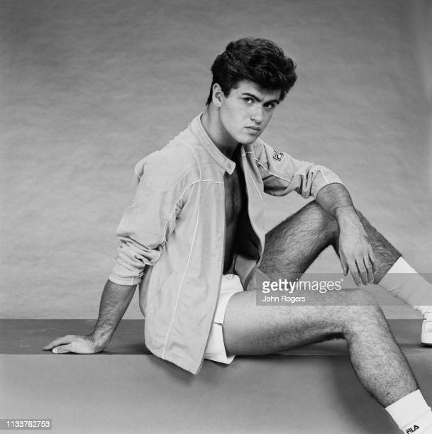 British singer-songwriter George Michael of pop duo Wham!, UK, 8th November 1983.