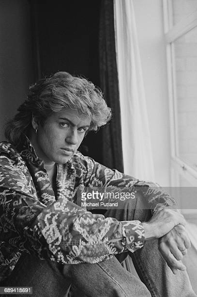 British singersongwriter George Michael of Wham in a Sydney hotel room during the pop duo's 1985 world tour January 1985 'The Big Tour' took in the...