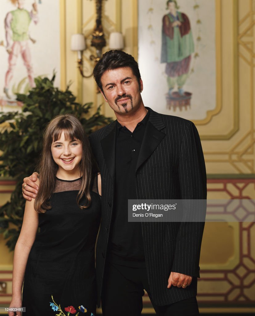 British singer-songwriter George Michael with Welsh singer Charlotte Church, circa 2000.