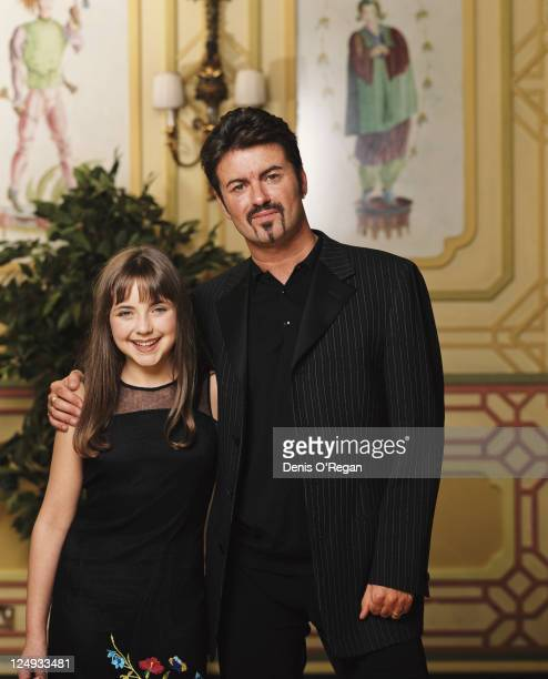British singersongwriter George Michael with Welsh singer Charlotte Church circa 2000