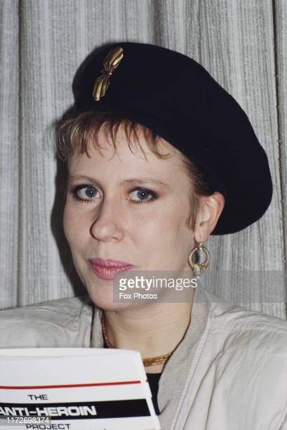 British singersongwriter Hazel O'Connor at the launch of the AntiHeroin Project UK 1986