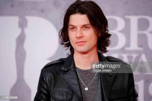 British singersongwriter James Bay poses on the red carpet on arrival for the BRIT Awards 2019 in London on February 20 2019 / RESTRICTED TO...