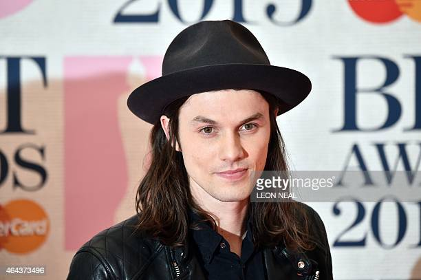 British singersongwriter James Bay poses on the red carpet to attend the BRIT Awards 2015 in London on February 25 2015 PERFORMER