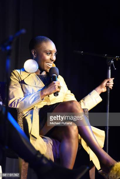 British singersongwriter Laura Mvula is interviewed on stage by Classic Album Sundays host Colleen Murphy in the Elgar Room at the Royal Albert Hall...