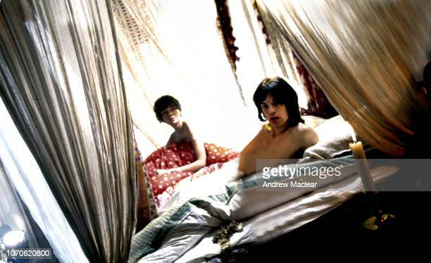 British singersongwriter Mick Jagger with French actress Michele Breton on the set of Donald Cammell and Nicolas Roeg's psychological thriller...