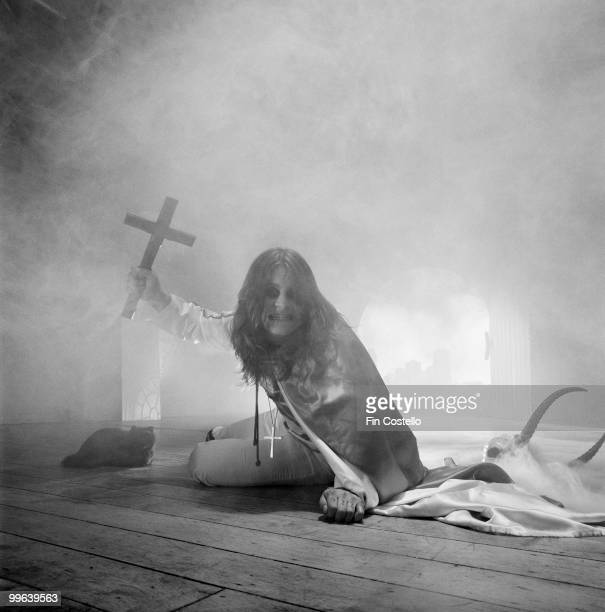 British singersongwriter Ozzy Osbourne during a photoshoot for the 'Blizzard of Ozz' album cover June 1980