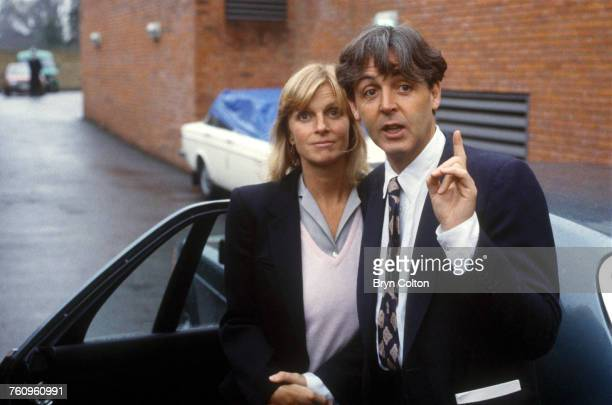 British singersongwriter Paul McCartney and his wife Linda at Middlesex Magistrates Court Uxbridge after they appeared on charges of customs evasion...