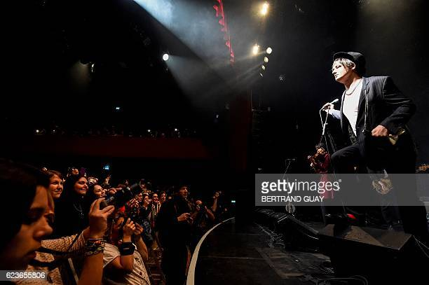 British singersongwriter Pete Doherty performs on stage at the Bataclan on November 16 in Paris British musician Pete Doherty was playing on November...
